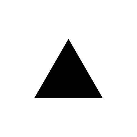 equilateral triangle icon. Elements of Geometric figure icon for concept and web apps. Illustration  icon for website design and development, app development. Premium icon on white background Vettoriali