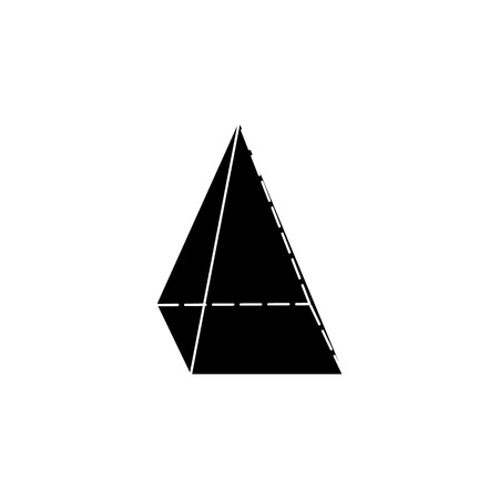 quadrangular pyramid icon. Elements of Geometric figure icon for concept and web apps. Illustration  icon for website design and development, app development. Premium icon on white background