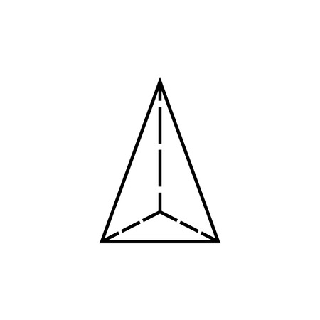 Tetrahedron icon, geometric figure element for mobile concept and web apps. Thin line icon for website design and development, app development. Premium icon on white background on white background.
