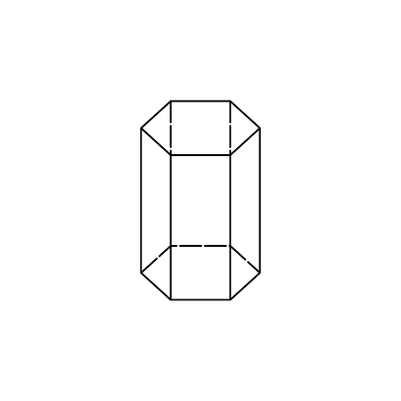 Hexagonal prism icon, geometric figure element for mobile concept and web apps. Thin line icon for website design and development, app development. Premium icon white background on white background.