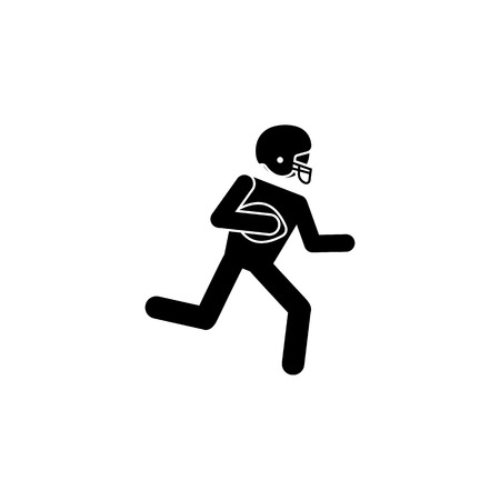 american football player icon.Element of popular american football  icon. Premium quality graphic design. Signs, symbols collection icon for websites, web design, on white background