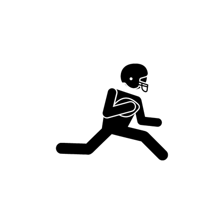 American football player icon.Element of popular american football icon. Premium quality graphic design. Signs, symbols collection icon for websites, web design, on white background.