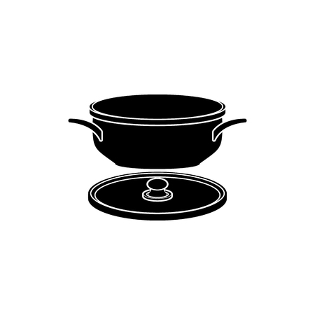 Pan icon. Element of kitchenware icon. Premium quality graphic design. Signs, outline symbols collection icon for websites, web design, mobile app on white background  イラスト・ベクター素材