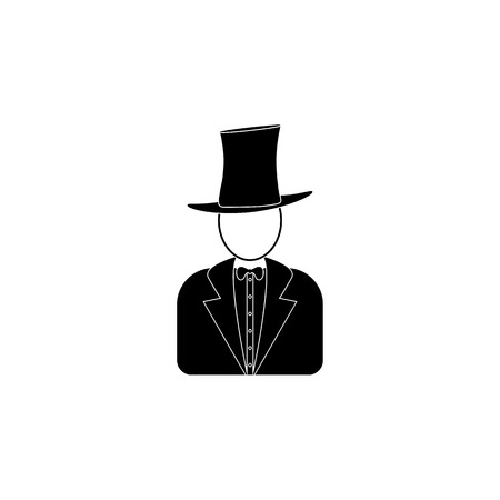 magicians avatar icon.Element of popular avatars icon. Premium quality graphic design. Signs, symbols collection icon for websites, web design, on white background Çizim