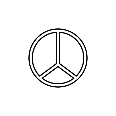 Hippie Peace Symbol icon on white background