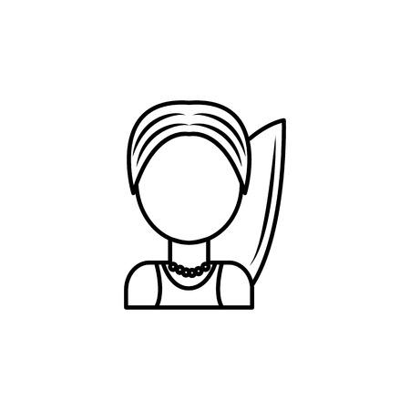 Surfer icon on white background