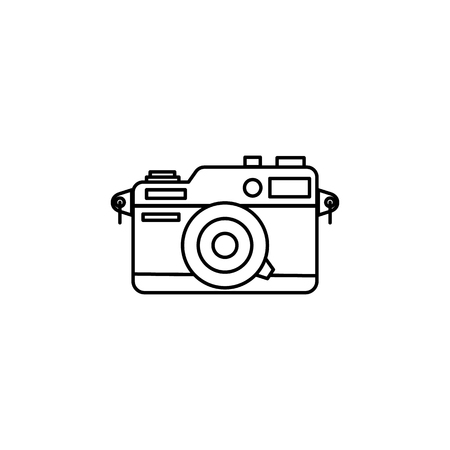 photographic camera icon on white background