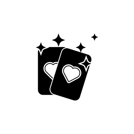 Fortune-telling card icon on white background