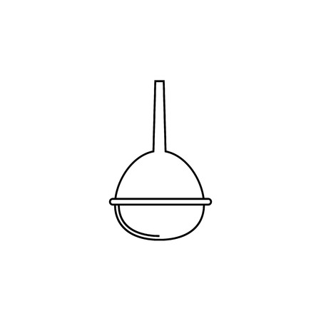 pear enema line icon. Element of Medicine tools Icon. Premium quality graphic design. Signs, symbols collection, simple icon for websites, web design, mobile app on white background Çizim