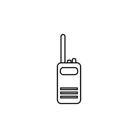 Two way radio, walkie talkie line icon on white background