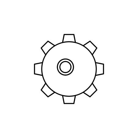 Naval Mine line icon on white background