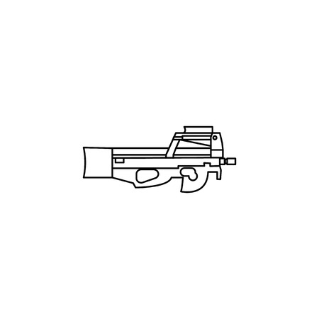 Weapon automate line icon on white background