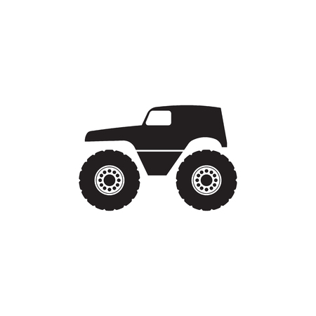 monster trucks icon. Monster trucks element icon. Premium quality graphic design icon. Baby Signs, outline symbols collection icon for websites, web design, mobile app on white background