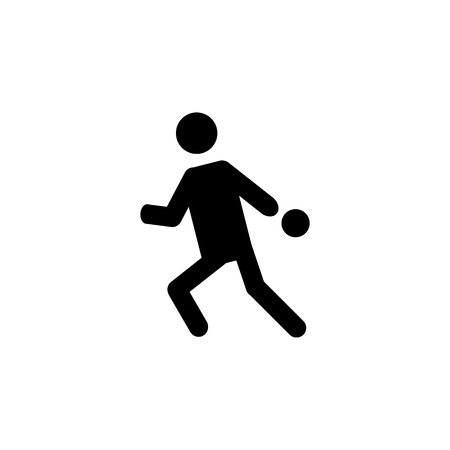Playing table tennis silhouette icon on white background Vectores
