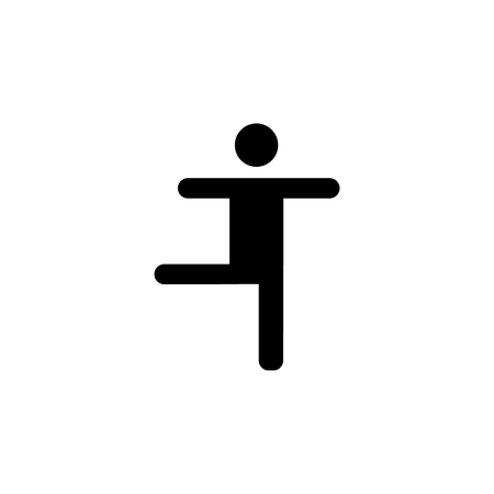 Dancing Silhouette man icon on white background illustration.