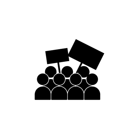 People with banners icon. Elements of protest and rallies icon. Premium quality graphic design. Signs and symbol collection icon for websites, web design, mobile app on white background.