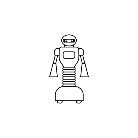 Robot with wheels icon Element of popular robot icon.