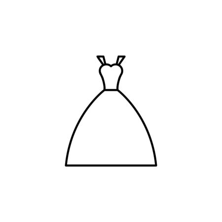 brides dress icon. Element of wedding for mobile concept and web apps illustration. Thin line icon for website design and development, app development. Premium icon on white background Stock Illustratie
