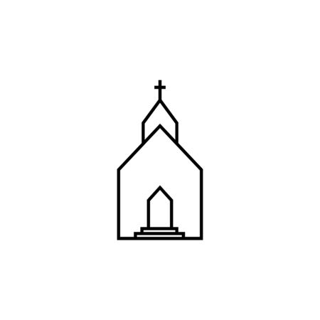 church icon. Element of wedding for mobile concept and web apps illustration. Thin line icon for website design and development, app development. Premium icon on white background Stock Illustratie