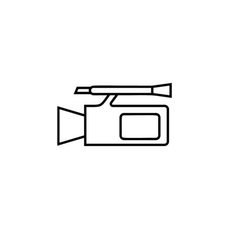 camcorder icon. Element of wedding for mobile concept and web apps illustration. Thin line icon for website design and development, app development. Premium icon on white background Illustration