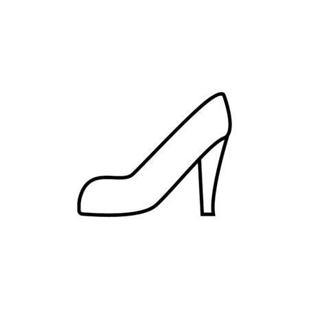 shoe icon. Element of wedding for mobile concept and web apps illustration. Thin line icon for website design and development, app development. Premium icon on white background Archivio Fotografico - 133149001