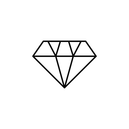 diamond icon. Element of wedding for mobile concept and web apps illustration. Thin line icon for website design and development, app development. Premium icon on white background