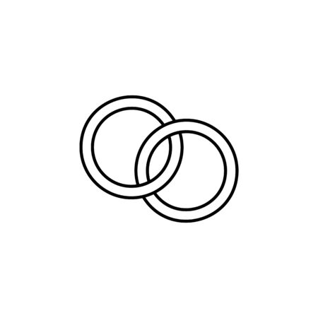 wedding rings icon. Element of wedding for mobile concept and web apps illustration. Thin line icon for website design and development, app development. Premium icon on white background