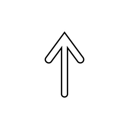 arrow icon. Thin line  icon for website design and development, app development. Premium icon on white background