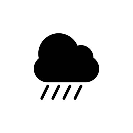 rain cloud icon. Element of web icons. Premium quality graphic design icon. Signs and symbols collection icon for websites, web design, mobile app on white background 일러스트