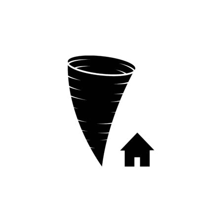 hurricane and house icon. Element of weather icon. Premium quality graphic design. Signs and symbols collection icon for websites, web design, mobile app on white background Banque d'images - 133149546