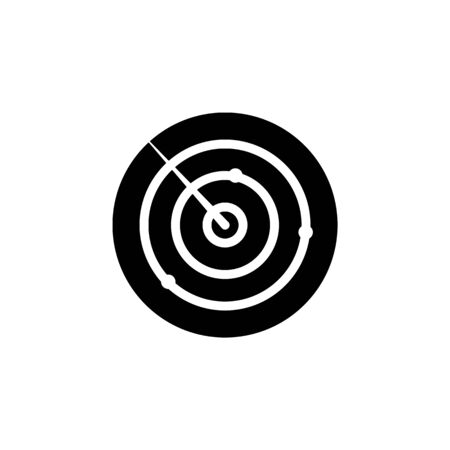 weapon, radar icon. Element of military illustration. Signs and symbols icon for websites, web design, mobile app on white background