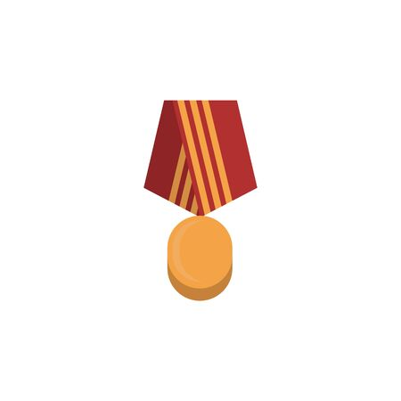 Medal colored icon. Colored element of war, armour illustration. Premium quality graphic design icon. Signs and symbols icon for websites, web design, mobile app on white background Archivio Fotografico - 133150042