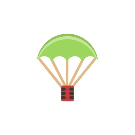Parachute, weapon colored icon. Colored element of war, armour illustration. Premium quality graphic design icon. Signs and symbols icon for websites, web design, mobile app on white background Archivio Fotografico - 133150043