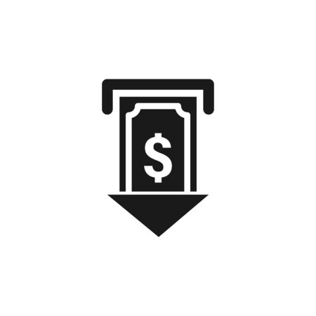 user atm dollar cash icon. Signs and symbols can be used for web, logo, mobile app, UI, UX on white background Stock Vector - 133219660