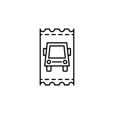 Travel bus ticket outline icon. Elements of travel illustration icon. Signs and symbols can be used for web, logo, mobile app, UI, UX on white background