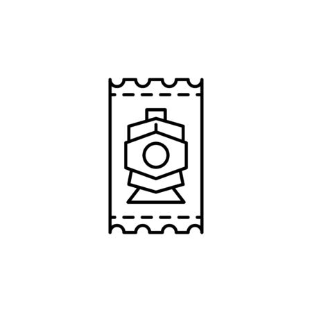 Travel train ticket outline icon. Elements of travel illustration icon. Signs and symbols can be used for web, logo, mobile app, UI, UX on white background