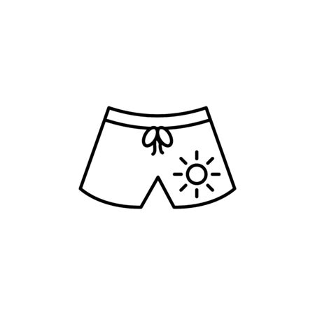 Travel swimsuit outline icon. Elements of travel illustration icon. Signs and symbols can be used for web, logo, mobile app, UI, UX on white background