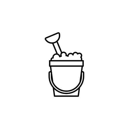 Travel sand bucket outline icon. Elements of travel illustration icon. Signs and symbols can be used for web, logo, mobile app, UI, UX on white background