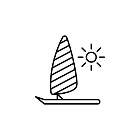 Travel parasailing outline icon. Elements of travel illustration icon. Signs and symbols can be used for web, logo, mobile app, UI, UX on white background