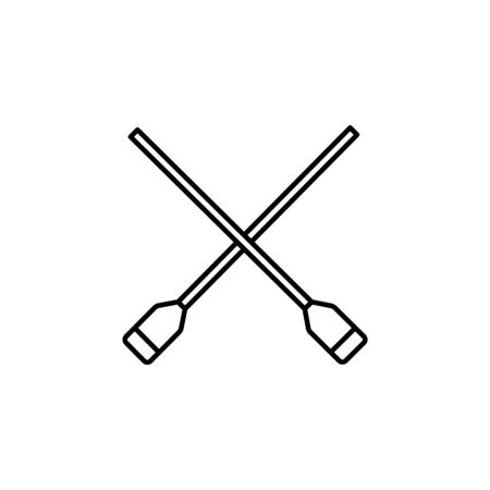Travel paddles outline icon. Elements of travel illustration icon. Signs and symbols can be used for web, logo, mobile app, UI, UX on white background Stock Illustratie