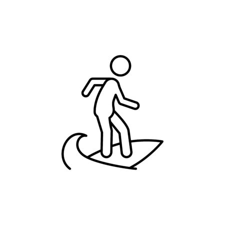 Travel surfing outline icon. Elements of travel illustration icon. Signs and symbols can be used for web, logo, mobile app, UI, UX on white background Banque d'images - 133221269