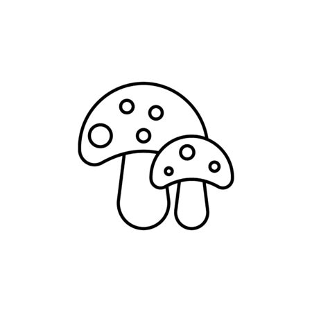 Travel mushrooms outline icon. Elements of travel illustration icon. Signs and symbols can be used for web, logo, mobile app, UI, UX on white background Stock Illustratie