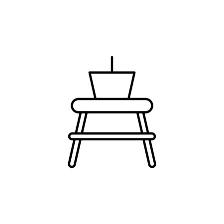 Travel basket on top of table outline icon. Elements of travel illustration icon. Signs and symbols can be used for web, logo, mobile app, UI, UX on white background
