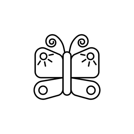 Travel butterfly outline icon. Elements of travel illustration icon. Signs and symbols can be used for web, logo, mobile app, UI, UX on white background