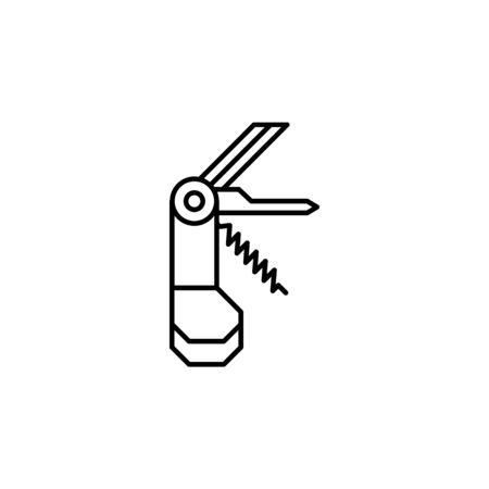 Travel swiss knife outline icon. Elements of travel illustration icon. Signs and symbols can be used for web, logo, mobile app, UI, UX on white background