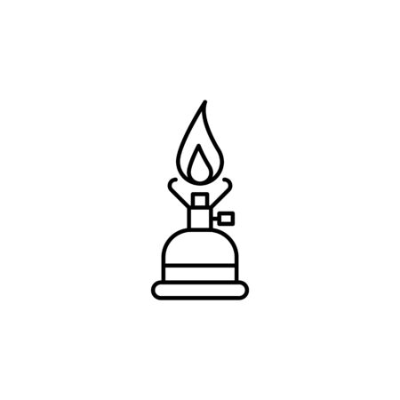 Travel camping gas outline icon. Elements of travel illustration icon. Signs and symbols can be used for web, logo, mobile app, UI, UX on white background Foto de archivo - 133221369