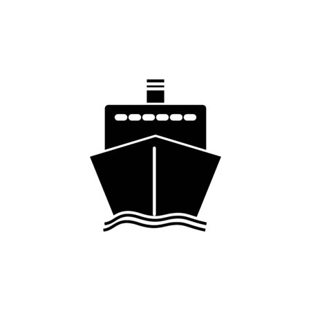 ship icon front on white background