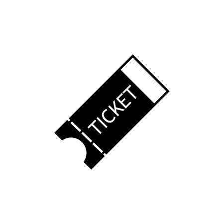 Ticket icon on white background Illustration