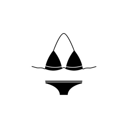 Bikini swimsuit icon on white background