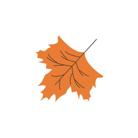 Autumn leaf color icon. Element of Happy Thanksgiving Day illustration. Premium quality graphic design icon. Signs and symbols collection icon for websites, web design, mobile app on white background Illustration